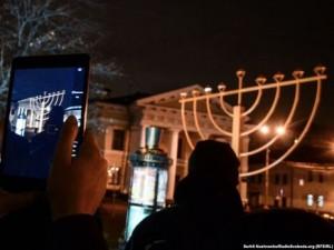 Антисемитская выходка в столице Украины в дни празднования Хануки